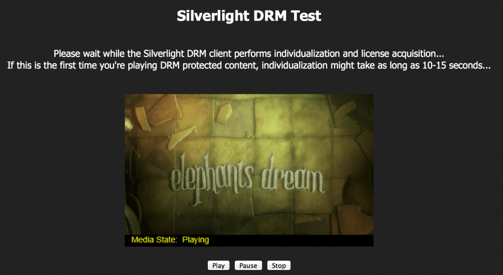 netflix for mac silverlight drm test video