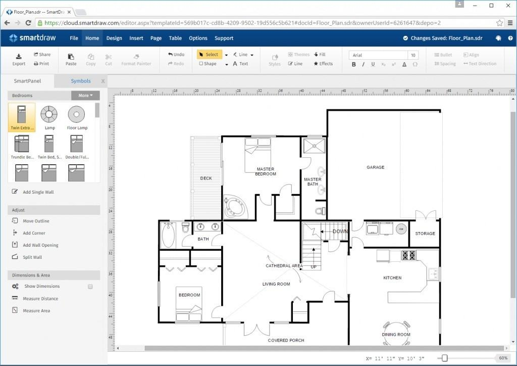 visio for mac alternative smartdraw floorplan 1024x724 - Ms Visio For Mac Free