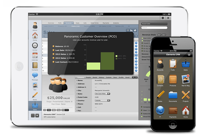 crm for mac - elements