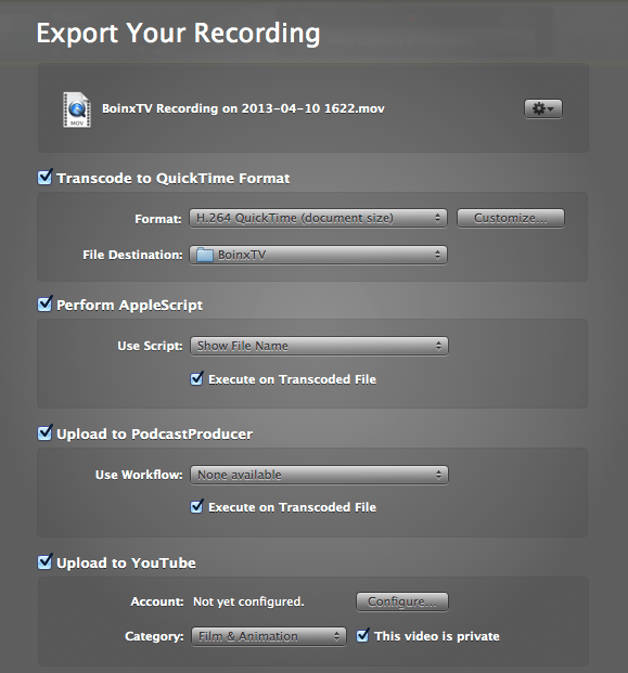 best tv production software for mac - boinx encoding