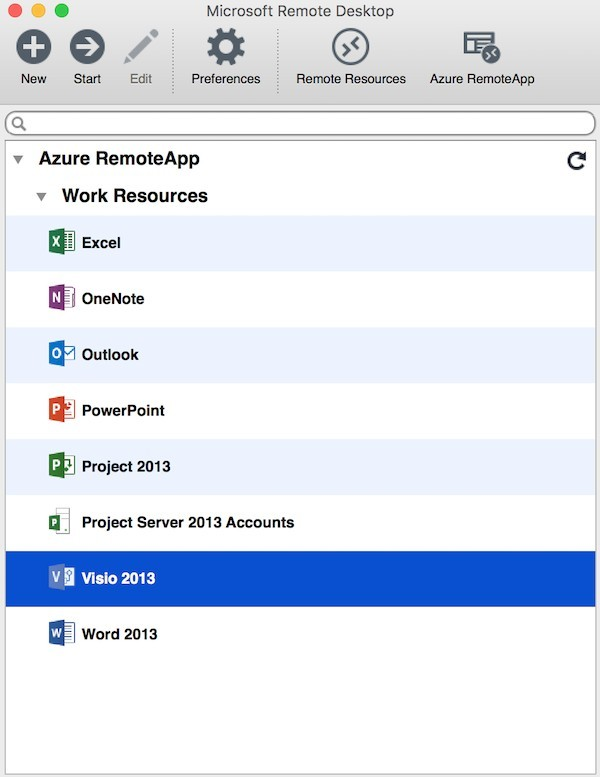 run visio on mac - visio 2013 azure remoteapp