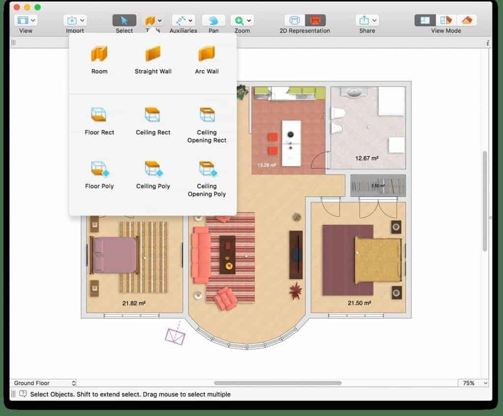 Top 12 home design floor plan software for mac 2018 for Home floor plan software