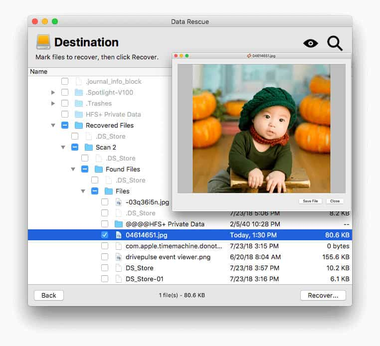 prosoft data recovery for mac review - recover files