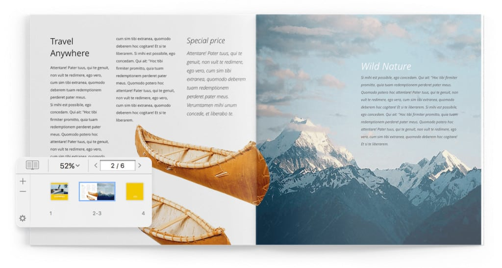 swift publisher review - two page layout