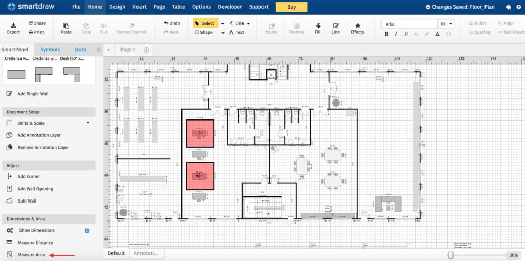 social distance office layout - smartdraw