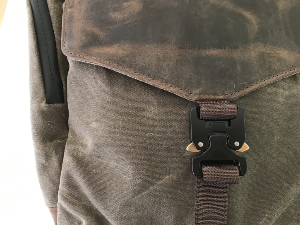 waterfield field backpack buckle lock