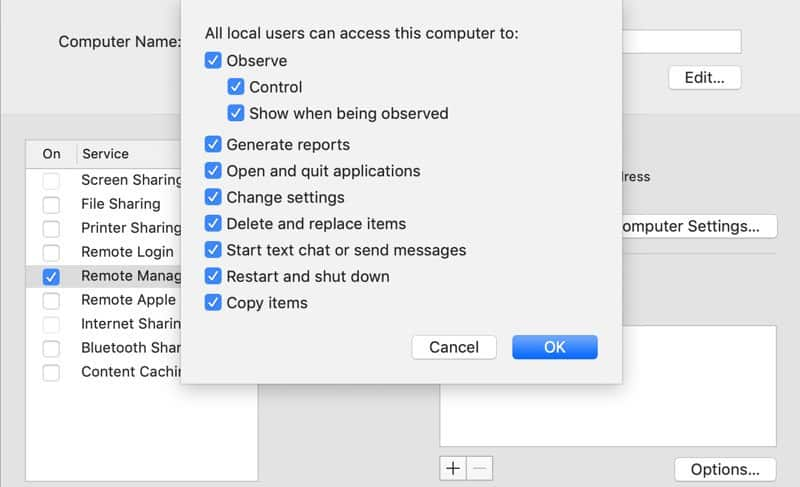control mac remotely - macos remote management